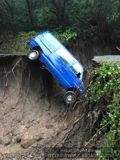 California driving conditions in the Santa Cruz Mountains this week!