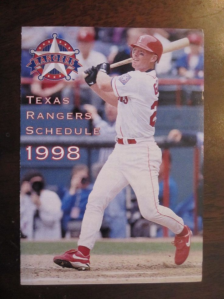 texas rangers 1998 pocket schedule mlb baseball from $3.5