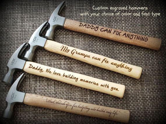 custom engraved hammer personalized hammer by socksandmonkeyhugs