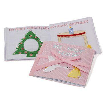 Oskar & Ellen My First Photo Album Fair Trade Hand Sewn Soft Fabric Gift (Pink)