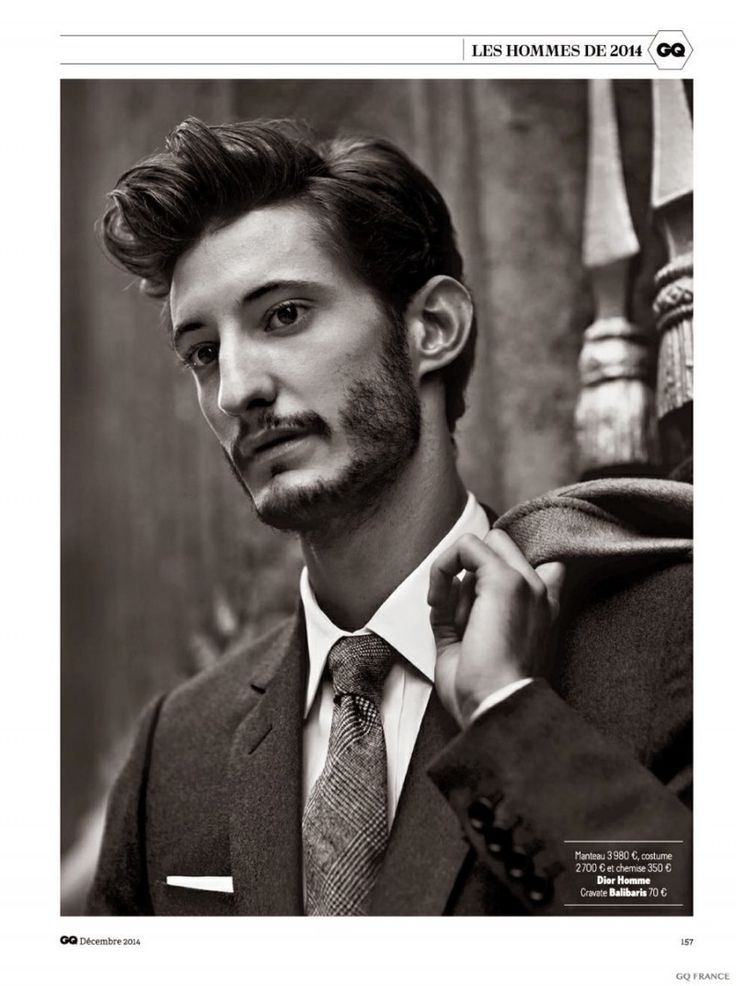 Yves Saint Laurent Star Pierre Niney Goes Sartorial for GQ France December 2014 Photo Shoot image Pierre Niney GQ France December 2014 Photo Shoot 007 800x1072