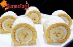 Muzlu Mini Rulo Pasta - Bu pastalar harika. Hem kolay bir pasta tarifi, hemde çok lezzetli Porsiyonluk muzlu mini rulo pasta tarifini mutlaka denemelisiniz.