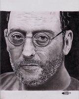 Eric Patrick (Ireland) DRAWING WITH PENCIL Jean Reno