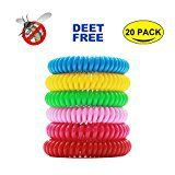#3: Mosquito Repellent Bracelet (20 pack) Hip2cart Natural Pure and Waterproof Wrist Band Deet-free and Bugs Free Lasts Up to 300 Hours for Kids and Adults