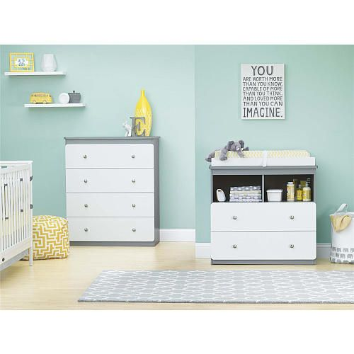 "Cosco Willow Lake Changing Table - Light Slate Gray/White - Cosco - Babies ""R"" Us"