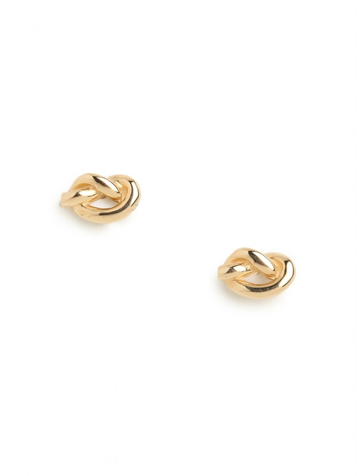 ariel gordon for BaubleBar! gold love knot studs - come in rose gold, too!
