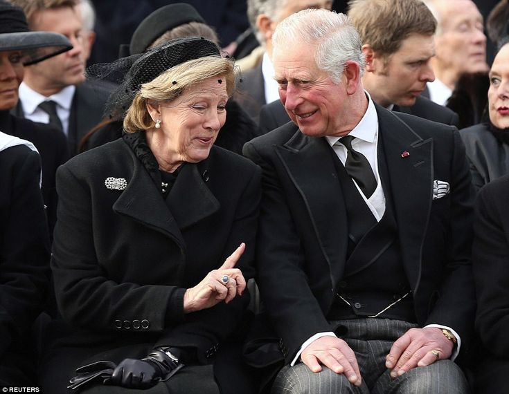 The Prince of Wales, Queen Anne Marie, Queen Sofia and King Juan Carlos attend the funeral of King Michael of Romania in Bucharest, 16.12.2017