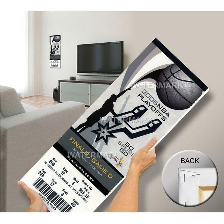 2005 NBA Finals Mega Ticket - San Antonio Spurs
