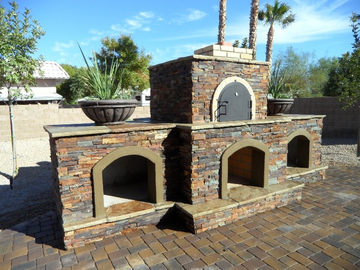 This Unique Custom Patio Design Feature By Desert Crest Gives The Homeowner  Both A Phoenix Outdoor Pizza Oven And Wood Burning Fireplace Too.