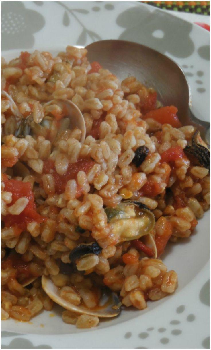 Farro perlato cozze e vongole ! #farro #cozze #vongole #ricettegustose #ricettegustosepesce