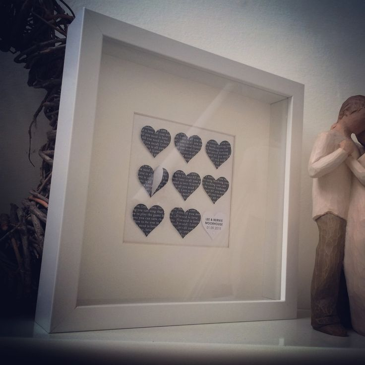 lovely wedding gift idea all you need is love or song lyrics of your choice personalised hearts frame by artsitsybitsy on etsy - Etsy Frames