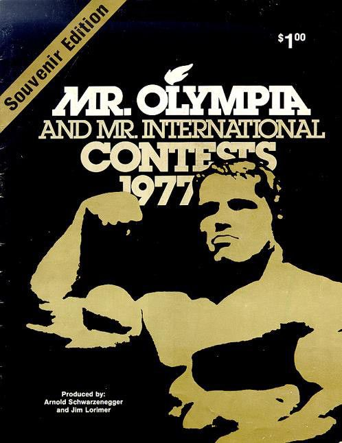 Mr. Olympia Contest 1977 program / Arnold