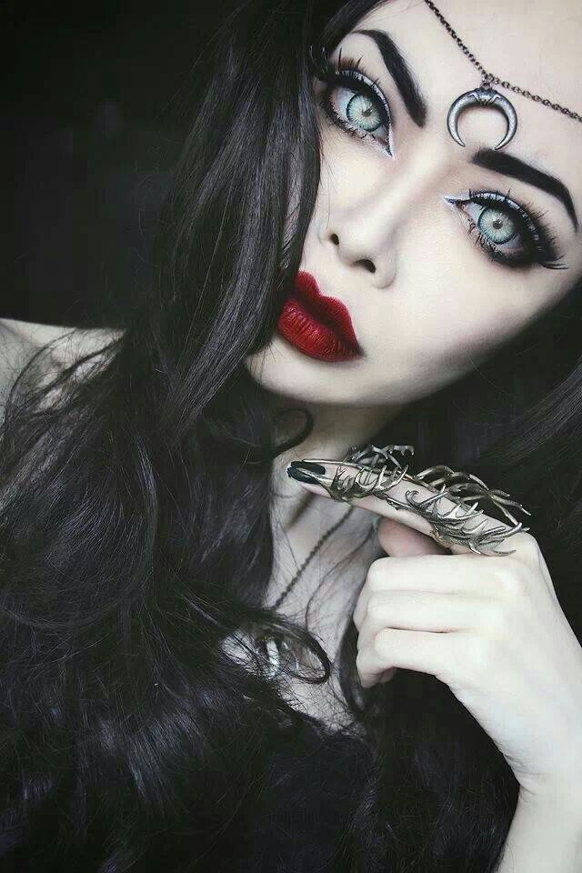 Another gothic makeup very bold features! the eyes capture you massively along with the red bold lips