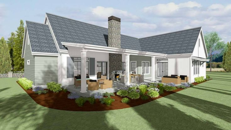 3-Bed Modern Farmhouse with Private Master Suite - 64456SC - 02