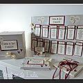 ensemble plan de table , urne, livre d'or et porte alliances