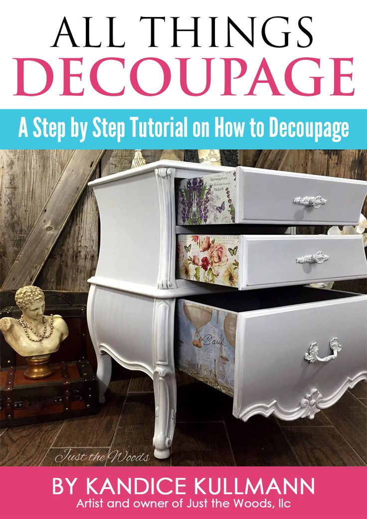 Come on get crafty! Master the Art of Decoupage with this digital, downloadable step by step ebook full of photos and a tutorial video (scheduled via http://www.tailwindapp.com?utm_source=pinterest&utm_medium=twpin&utm_content=post103165219&utm_campaign=scheduler_attribution)
