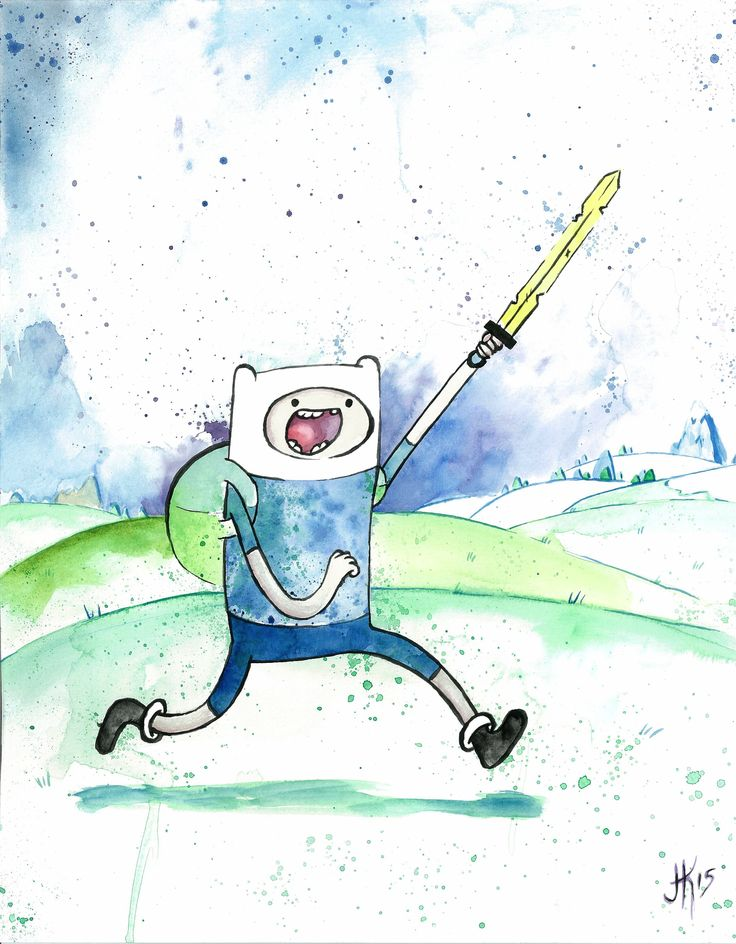 Finn the Human - Adventure Time by: Joseph Kennedy - JK iMAGES prints available here>> https://www.etsy.com/listing/231985810/finn-the-human-adventure-time