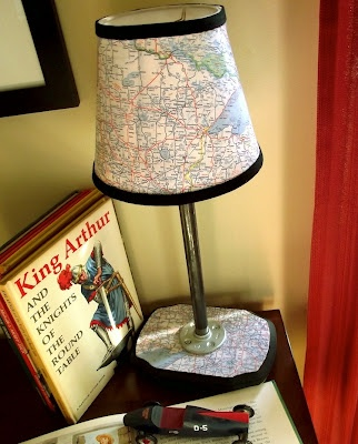 Build a lamp then use old maps to spice it up!
