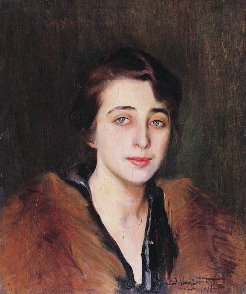 lunacylover:Konrad Krzyżanowski (Polish, 1872-1918), 'Portrait of a Lady', 1918.