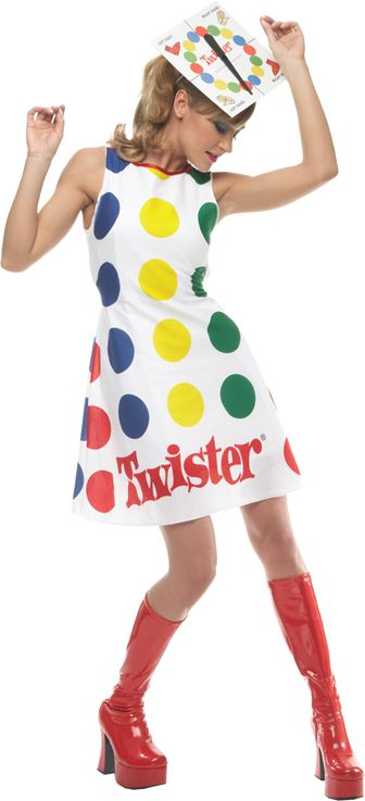 womens twister costume twister adult costume a go go girl themed board game costume thats fun for the whole family - Funny Halloween Costume Ideas Women