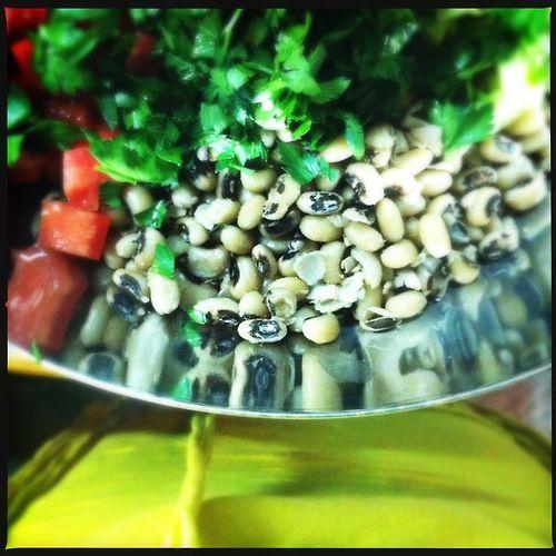 Πιάζ. ή Φασόλια μαυρομάτικα σαλάτα