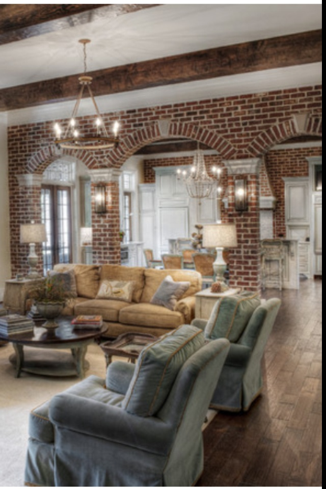 Living Room Arch Decorations: 76 Best Brick Accent Walls Images On Pinterest