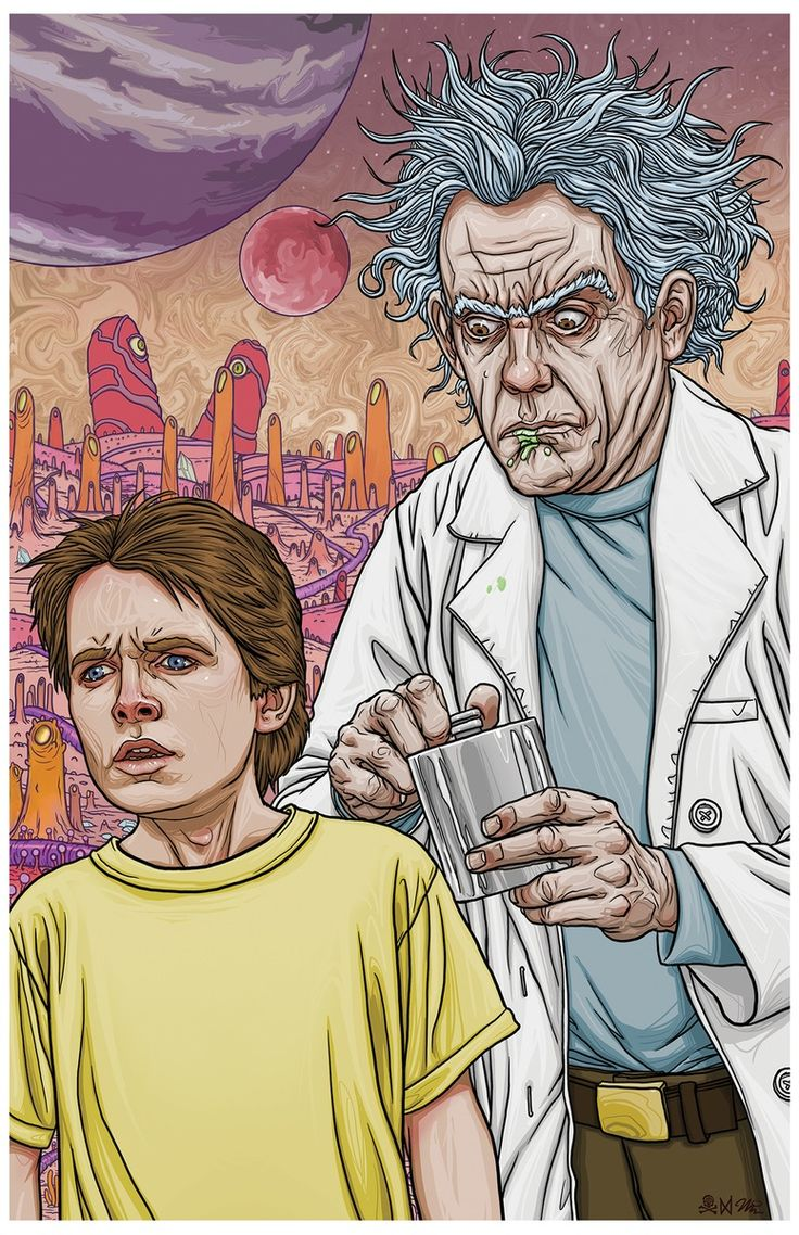 Doc and Marty/Rick and Morty || Premium Quality 11 x 17 Limited Edition Art on Heavy Stock Paper