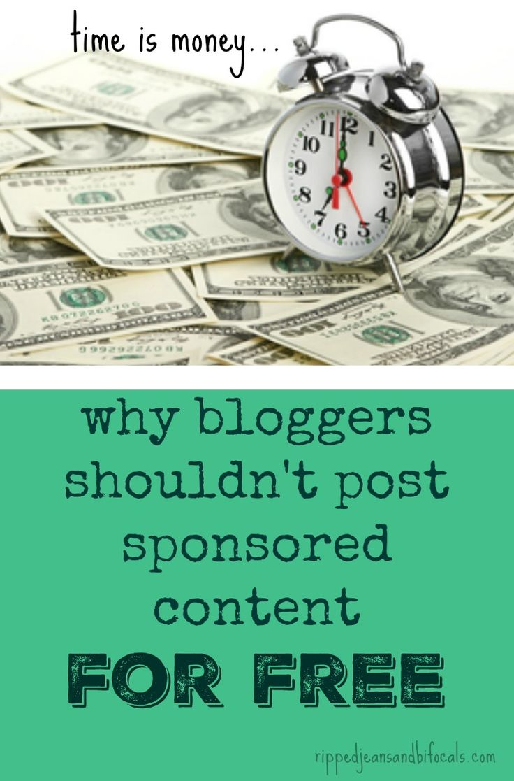 Why Bloggers Shouldn't Post Sponsored Content for Free|Ripped Jeans and BIfocals