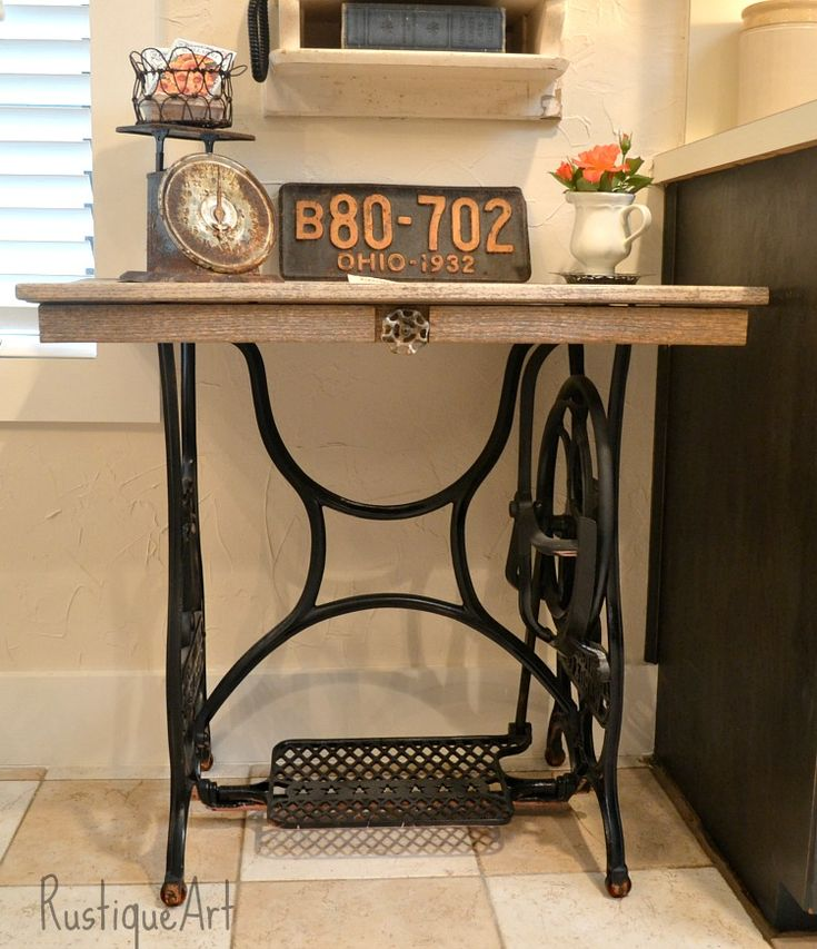 1000 Images About Repurposed Antique Sewing Machines On Pinterest Machine A Sewing Machine