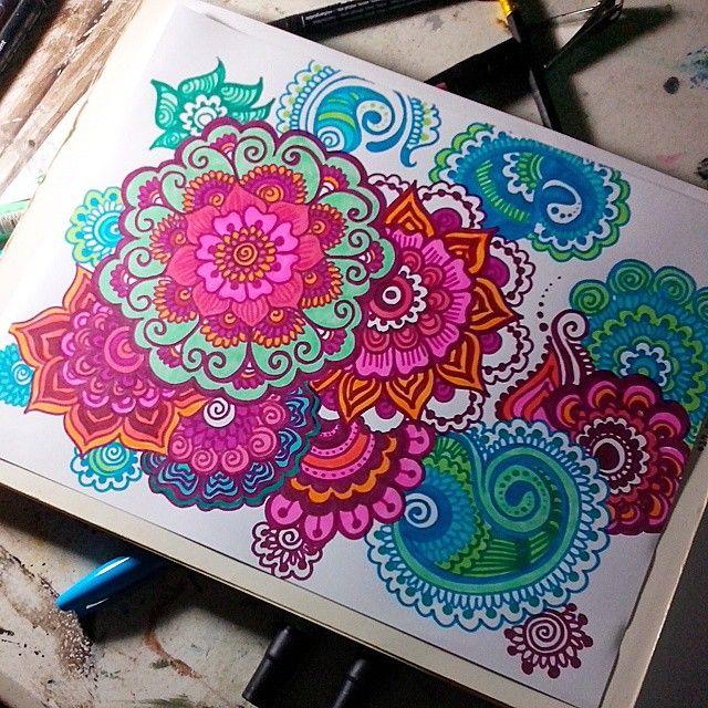 colorful mandala drawing tumblr - Google Search
