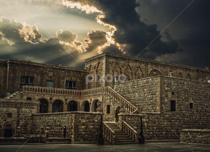 monastery,church,building,historical,history,religion,sunset,hdr by Soner Bakır - Buildings & Architecture Public & Historical ( religion, building, mardin, church, sunset, monastery, historical )