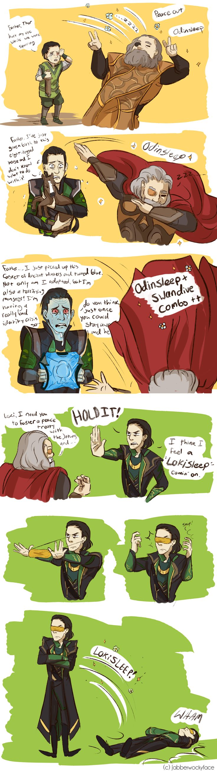I honestly feel so bad for Loki.  He was having a serious identity crisis and after the Odinsleep and all the drama after, I can't really blame him …