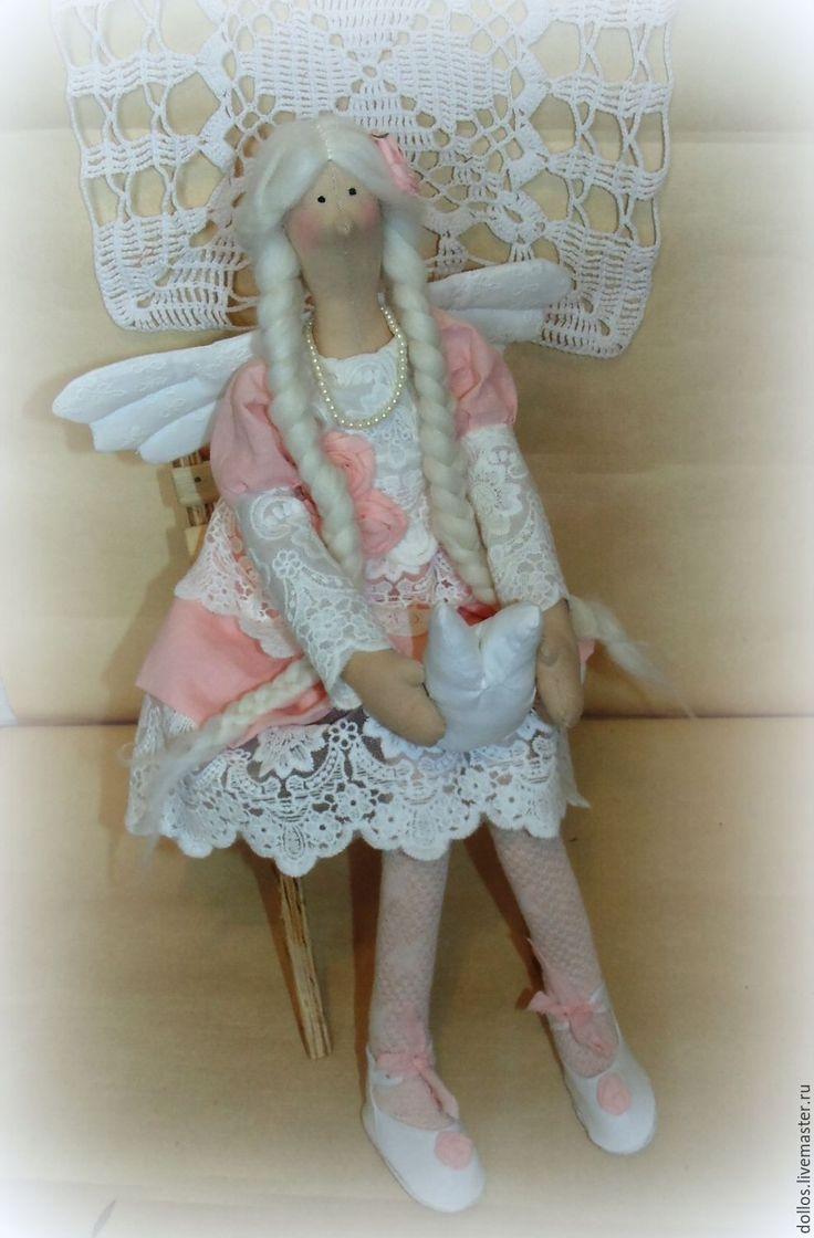 Купить Тильда Зубная Фея - бледно-розовый, тильда, фея, зубная фея, оберег