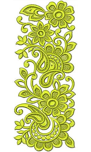 Eye Cathing Swiss Embroidery Lace Design