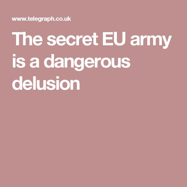 The secret EU army is a dangerous delusion