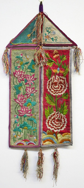 Korean embroidered silk ornament
