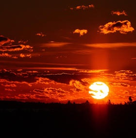 Beautiful sunrise here in Maine!