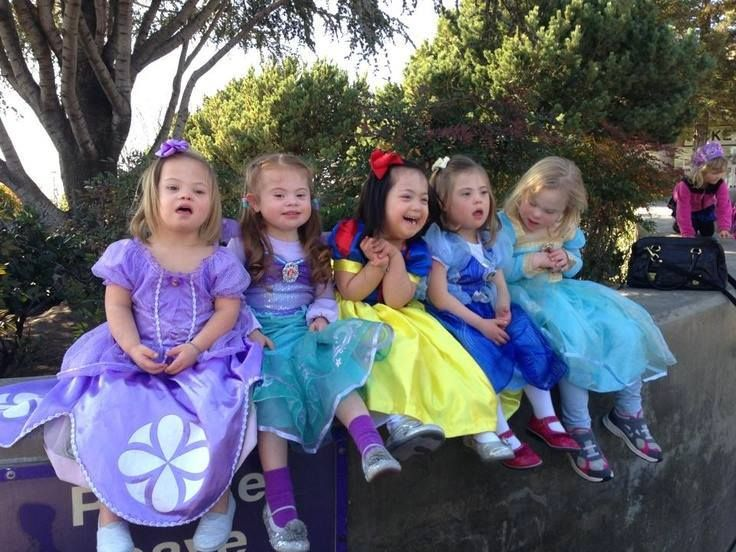 Down Syndrome princesses.                                                                                                                                                                                 More
