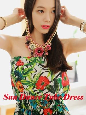 Korea feminine clothing Store [SOIR] Sundance Tube Tops One Piece / Size : FREE / Price : 31.74 USD #honeymoon #tropical #tubetop #topops #ops #dress #honeymoonlook #soir #fashion #style