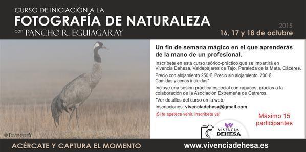 Curso de Iniciación a la fotografía de naturaleza