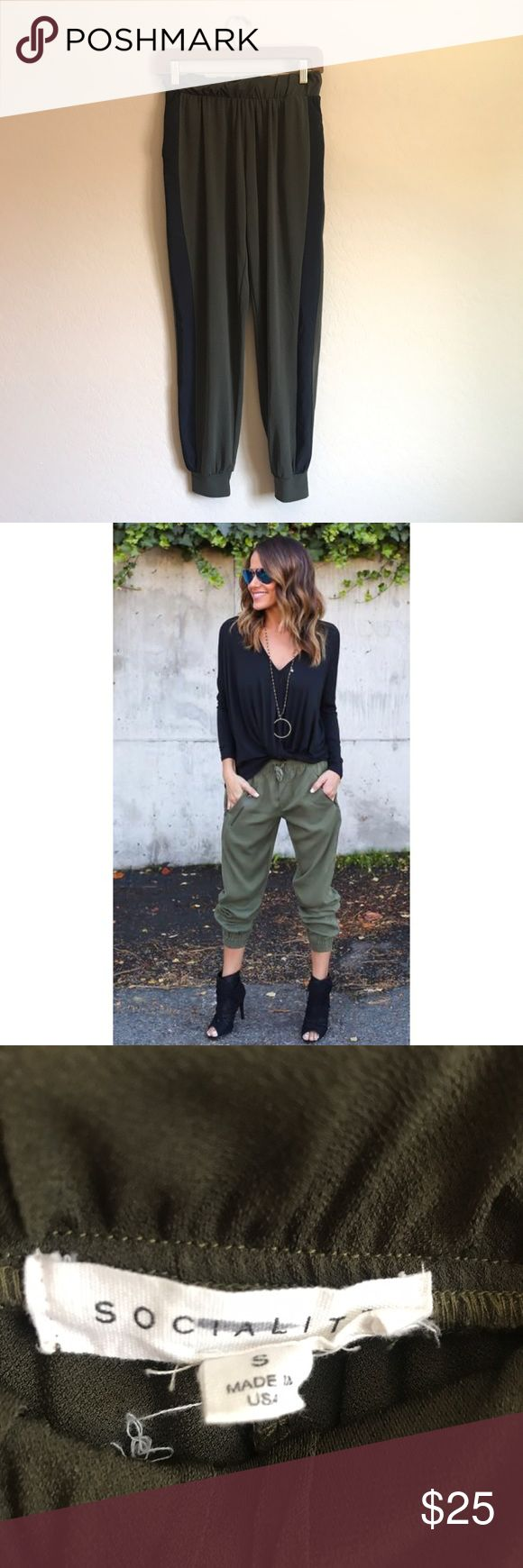 Socialite Army Green jogger pants SEND PHOTO IS FOR OUTFIT INSPIRATION ✨ Socialite Pants Track Pants & Joggers