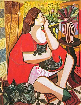 Mulher e gatos,1959 Di Cavalcanti