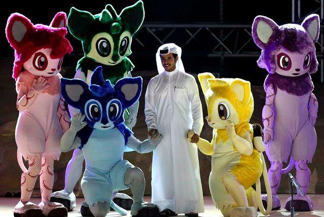 2011 AFC Asian Cup - Qatar  #international #tournament  #mascot #costume #qatar
