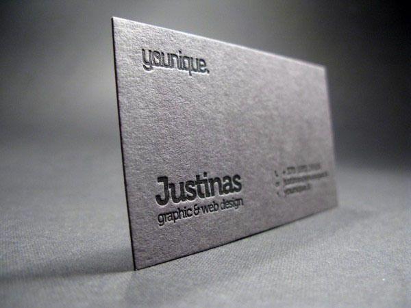 113 best business card design images on pinterest business cards letterpress business card 24 unique letterpress business cards reheart Choice Image