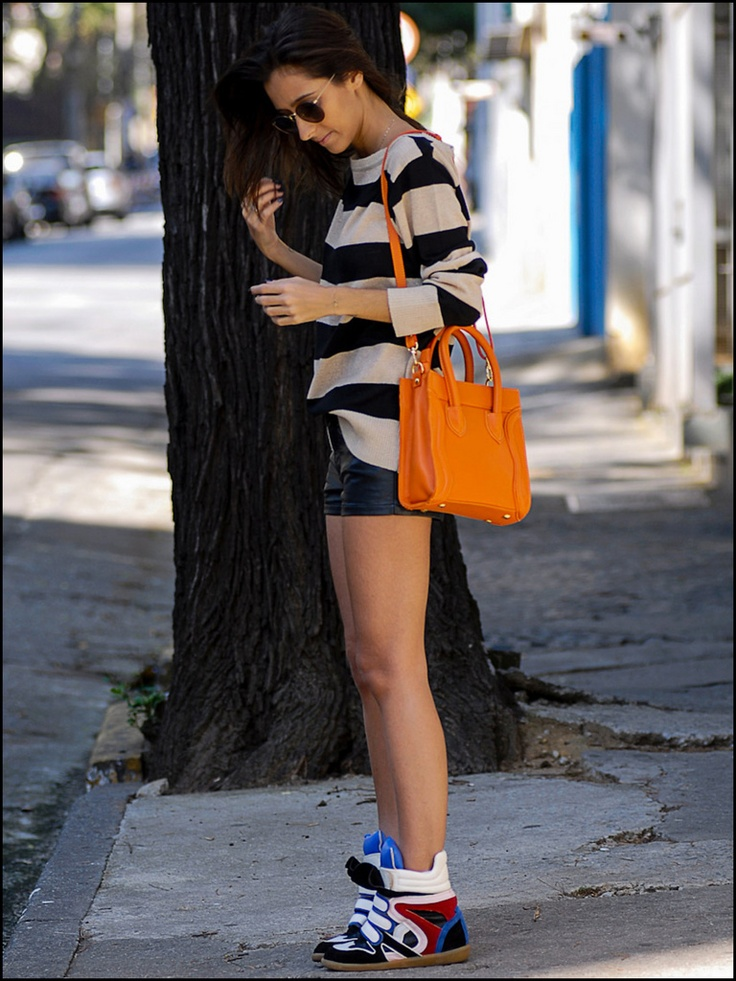 : Mode Stripes, Outfits Choice, Obsession, Sneakers Outfits, Wedges Sneakers, Wedge Sneakers, Shoes Shoes, Outfits Streetsyl