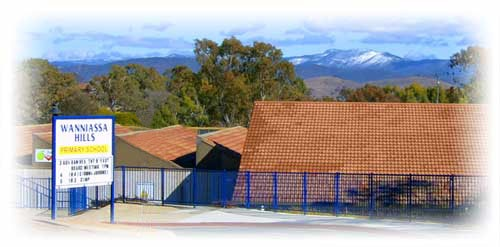 Waniassa Hills Primary School with views to the mountains.