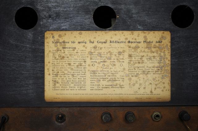 Cossor Model 3467 Radio 23/03/2013 by Gary S. Crutchley, via Flickr