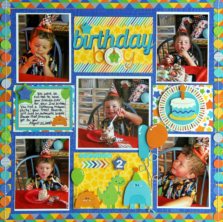 Hip Hip Hooray collection. I love this birthday layout Jodi did, her little scenes she always makes are so cute!