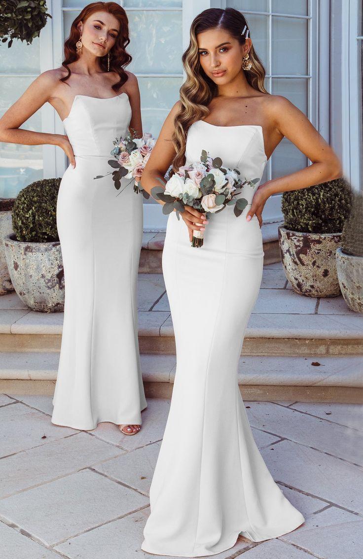 Bridesmaid Dresses Colors And Combinations Bride Bridesmaids Bridesmaiddresses Bridedress Mermaid Bridesmaid Dresses White Bridesmaid Bridesmaid Dresses [ 1134 x 736 Pixel ]