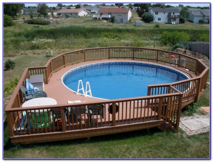 Image Result For 24 Ft Above Ground Pool Deck Plans Pool